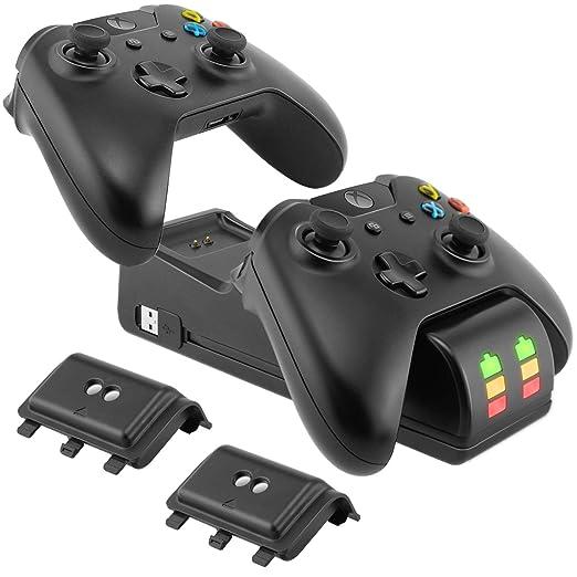 Ponkor Estación de Carga del Controlador Xbox One, Cargador ...