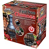 Kingfisher CHIM1 Outdoor Chiminea BBQ Heater - Black