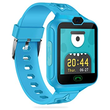 AGPTEK Smartwatch Niños con 8GB SD Tarjeta, Reloj Inteligente para Niños con Hacer Llamada, SOS, Cámara, Música, Juegos y Despertador, Regalo para ...
