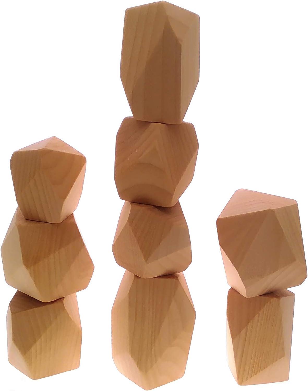 5pcs, A Abendedian Balancing Building Wooden Blocks Stacking Stones Sets Lightweight Pine Wood Girl Boy Men Women Educational Toy