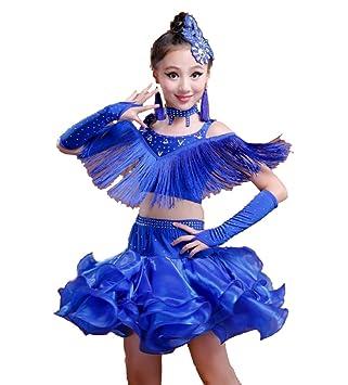 YZLL Niño Trajes de Baile Latino Rumba Latina Samba salón de ...