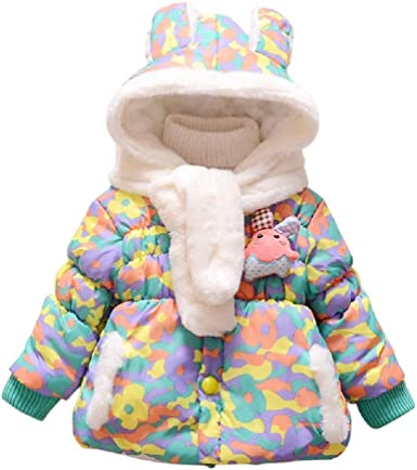 Aivtalk Baby Girls Princess Faux Fur Coat Thick Padded Jacket 3 Color Avaiable