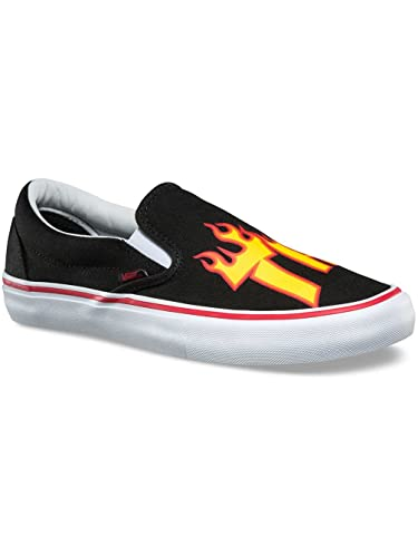 0929ba51ea Vans x Thrasher Slip-On Pro Sneakers (Thrasher Black) Mens Skate Mag Shoes