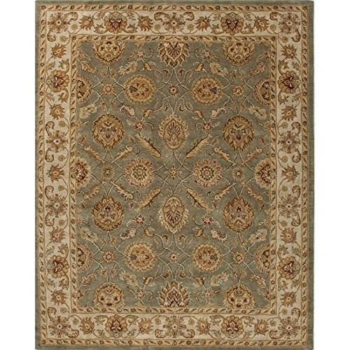 Jaipur Living Mythos 4' x 6' Hand Tufted Wool Rug in Green and Ivory