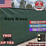 EverGrow 6' x 50' Green Fence Privacy Screen Windscreen Cover Fabric Shade Tarp Plant Greenhouse Netting Mesh Cloth - Commercial Grade 170 GSM - Heavy Duty - 3 Years Warranty