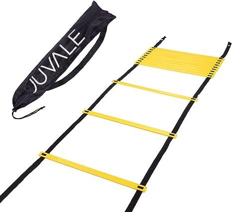 Juvale - Escalera de agilidad y velocidad con bolsa de transporte para ejercicio, deportes y gimnasia, Speed Ladder: Amazon.es: Deportes y aire libre