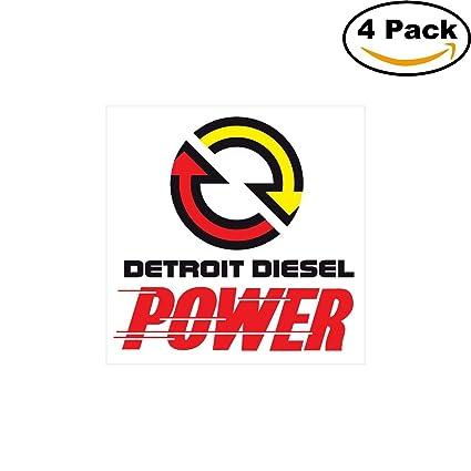 Amazon Detroit Diesel Power Logo Decal Vinyl Sticker 4 Stickers