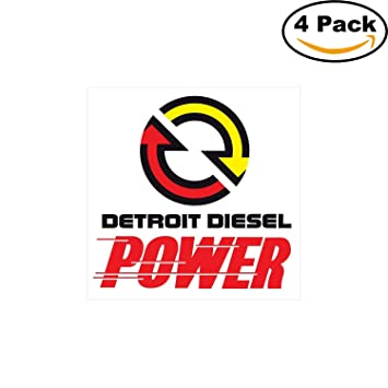 amazon com detroit diesel power logo decal vinyl sticker 4 stickers rh amazon com Freightliner Logo MTD Consumer Products Logo
