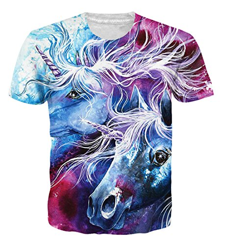 d39676a0951 Goodstoworld 3D Printed Unicorn T Shirt for Men Women Summer Funny Casual Short  Sleeve Tshirt Tee