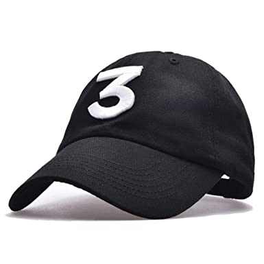 Himozoo Unisex Chance The Rapper 3 Baseball Hats Adjustable Dad Cap (Black) cf518fc275e3