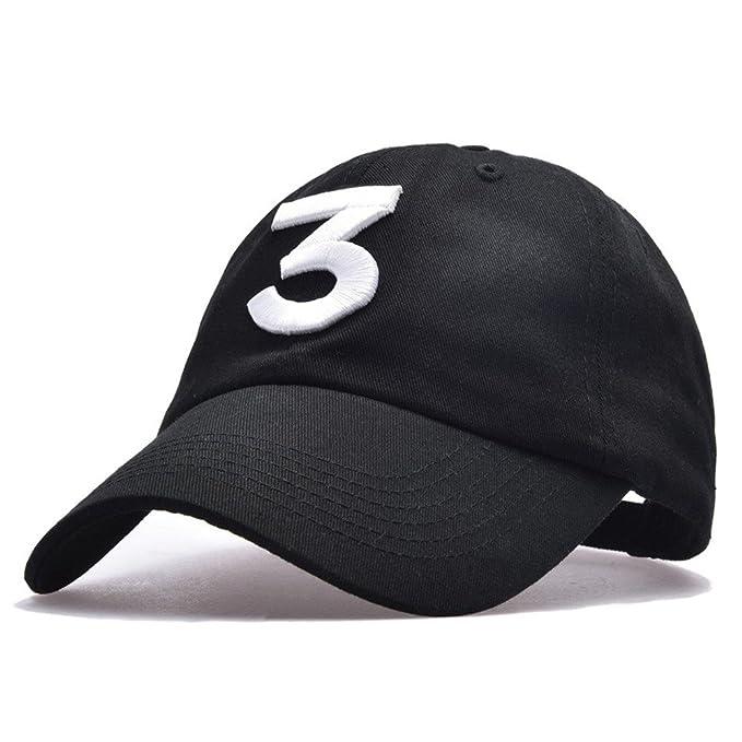 7ef17f8caa0 Himozoo Unisex Chance The Rapper 3 Baseball Hats Adjustable Dad Cap  (Black)  Amazon.co.uk  Clothing
