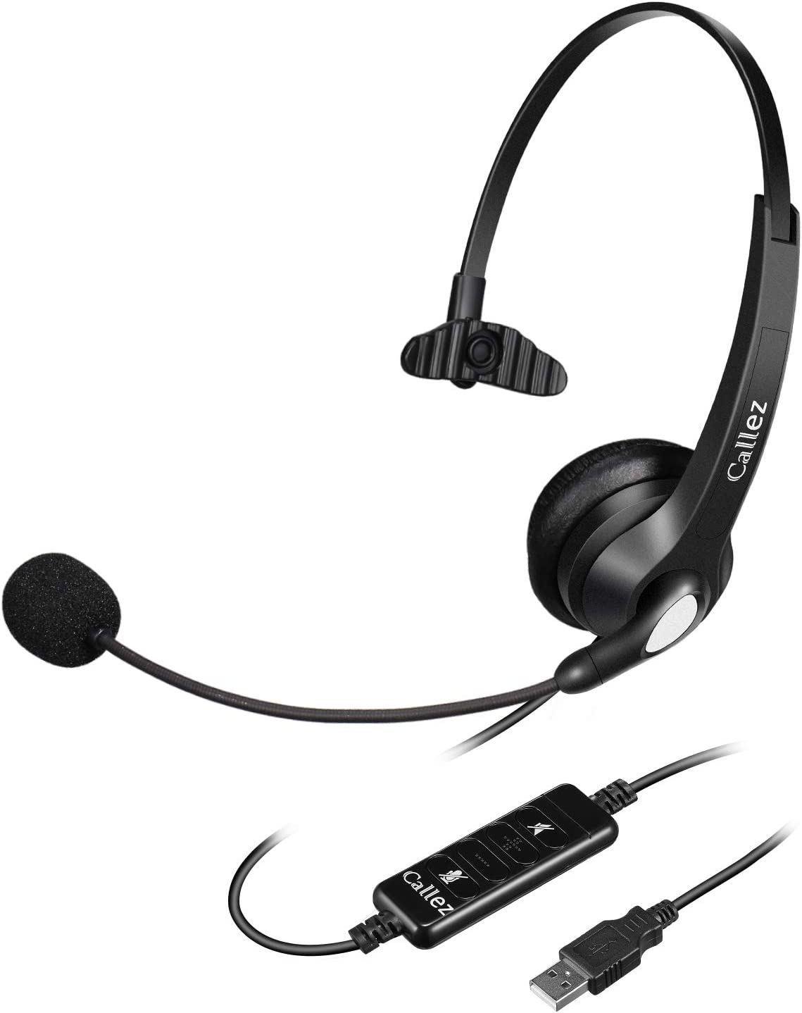 22H Talk Time CVC8.0 Noise Canceling USB Headphones Soulsens Computer Headset with Dual-Mic Skype Comfort-Fit Business Headset for PC Office Cell Phone