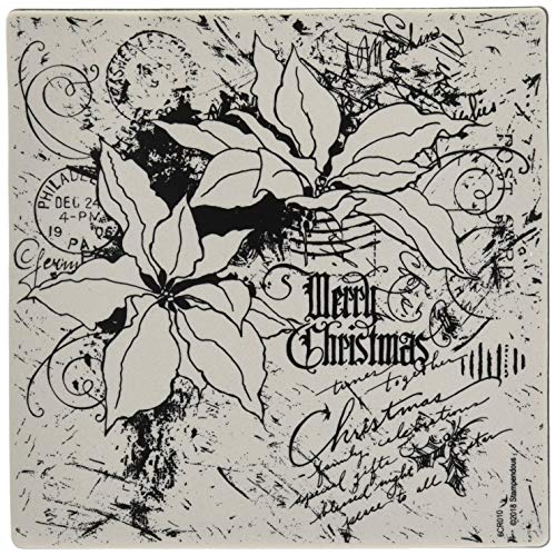 Stampendous Cling 6x6 Stamp, Poinsettia Collage