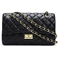 Women's Chain Quilted PU Leather Shoulder Bag