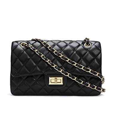 dfa0184fca4cbe Women's Chain Quilted PU Leather Shoulder Bag: Handbags: Amazon.com