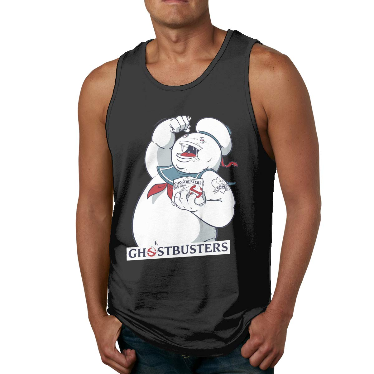 Cheny Ghostbusters Stay Puft Marshmallow Mens Tank Top Slim Fit Muscle Shirt