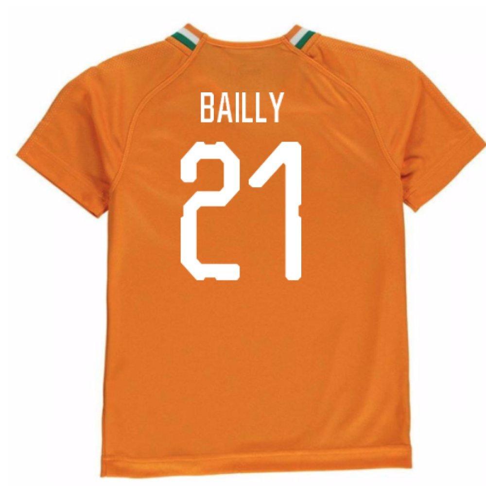 2018-19 Ivory Coast Home Football Soccer T-Shirt Trikot (Eric Bailly 21) - Kids