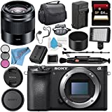 Sony Alpha a6500 Mirrorless Digital Camera (Body) ILCE6500/B + Sony E 50mm f/1.8 OSS Lens (Black) SEL50F18/B + NP-FW50 Replacement Lithium Ion Battery + Deluxe Cleaning Kit Bundle