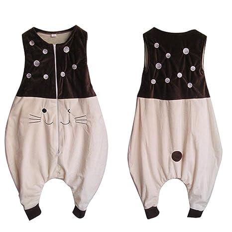 1 juego infantil sin mangas del chaleco de franela pierna Saco de dormir al bebé recién