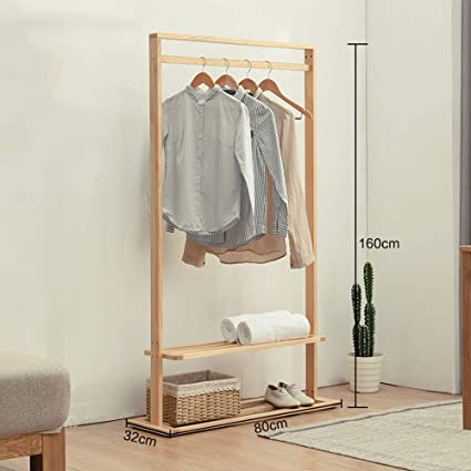 Amazon.com: MEIDUO Clothes Rack Multifuctional Wood Coat ...