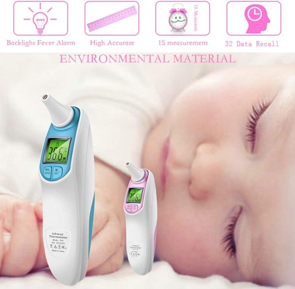 B/éb/é Thermom/ètre,Medical Numerique Infrarouge Frontal et Oreille Thermometre pour Bebe Enfant,alarme fi/èvre certifications CE//RoHS//FDA