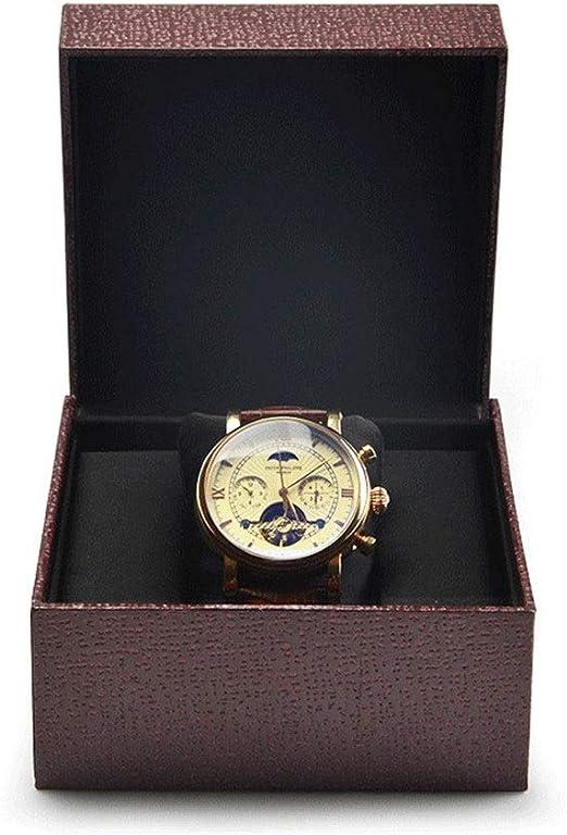 YzDnF Exhibición del Reloj y la Caja de Almacenamiento Colección de Reloj Caja de Regalo Reloj