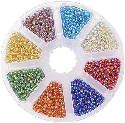 PandaHall Elite 1 Caja 8/0 Cristal Bolas de semilla de los ...