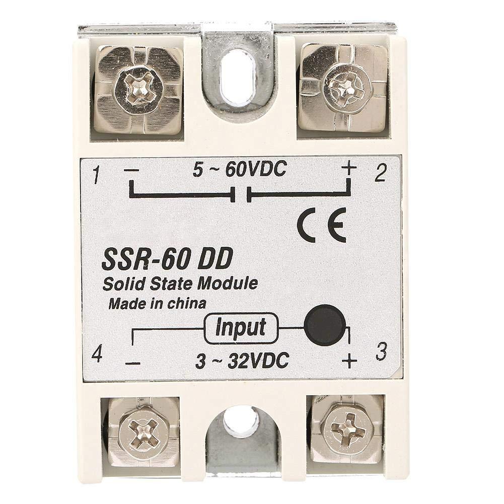SSR-60DD DC-DC Relais Statiques de Contr/ôle de Machines 60A 3-32VDC /à 5-110VDC Relais Statiques /à Module Solide