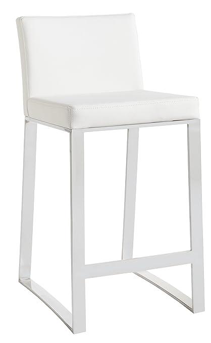 Pleasant Amazon Com Sunpan Modern Architect Counter Stool White Bralicious Painted Fabric Chair Ideas Braliciousco