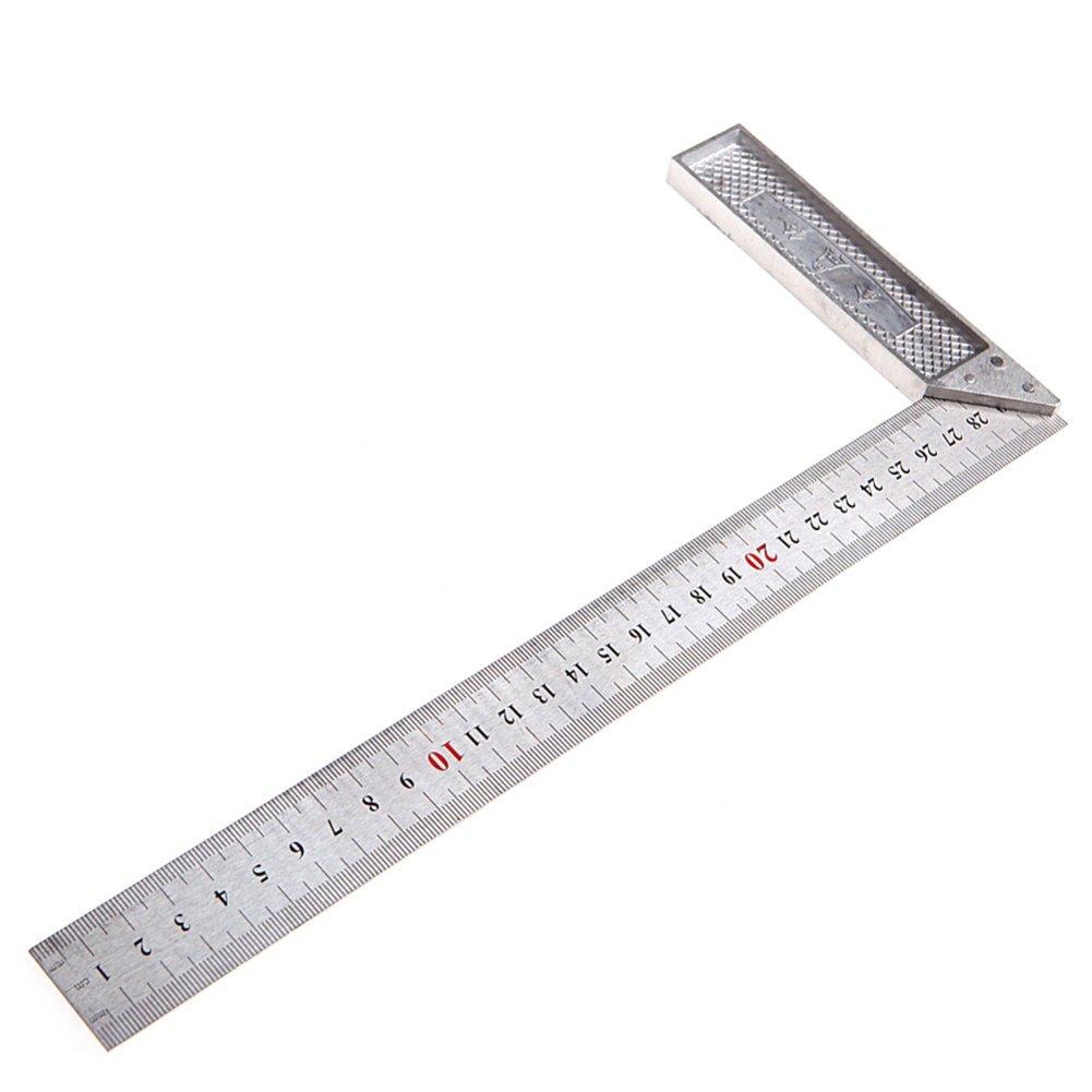 en acier inoxydable Droit de mesure Angle de 90/degr/és /Équerre R/ègle en m/étal Outil de mesure 25cm,9.84 inch