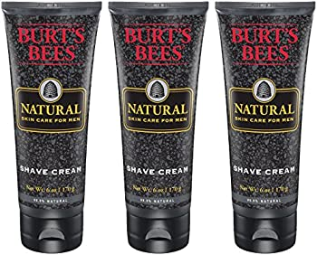 3-Pack Burt's Bees Natural Skin Care for Men Shave Cream (6 Ounce)