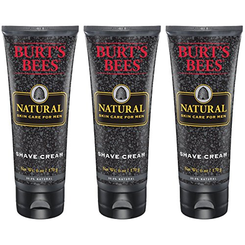 Burt's Bees Natural Skin Care for Men Shave Cream, 6 Ounces, Pack of 3