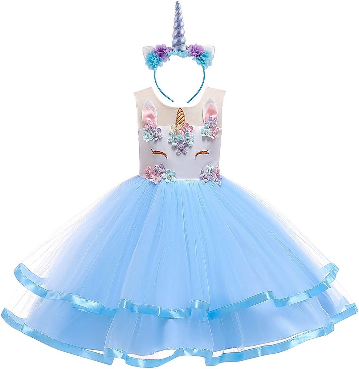 Niña Princesa Vestido Unicornio Disfraz de Cosplay para Fiesta ...