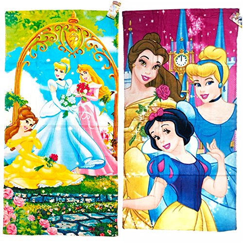 2 Piece Disney Princess Terry Bath Towels Set, 20X40
