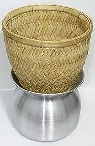 Thai Sticky Rice Steamer Handcraft Cook Thai Food Manu (Basket Only)