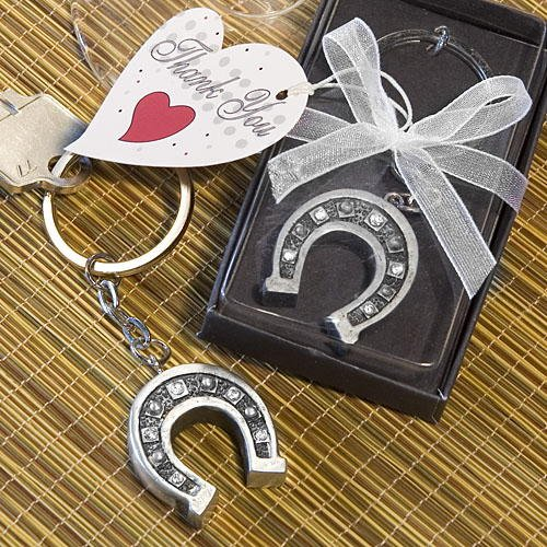 Lucky Horseshoe Key Chain Favors, (Horse Wedding Favors)