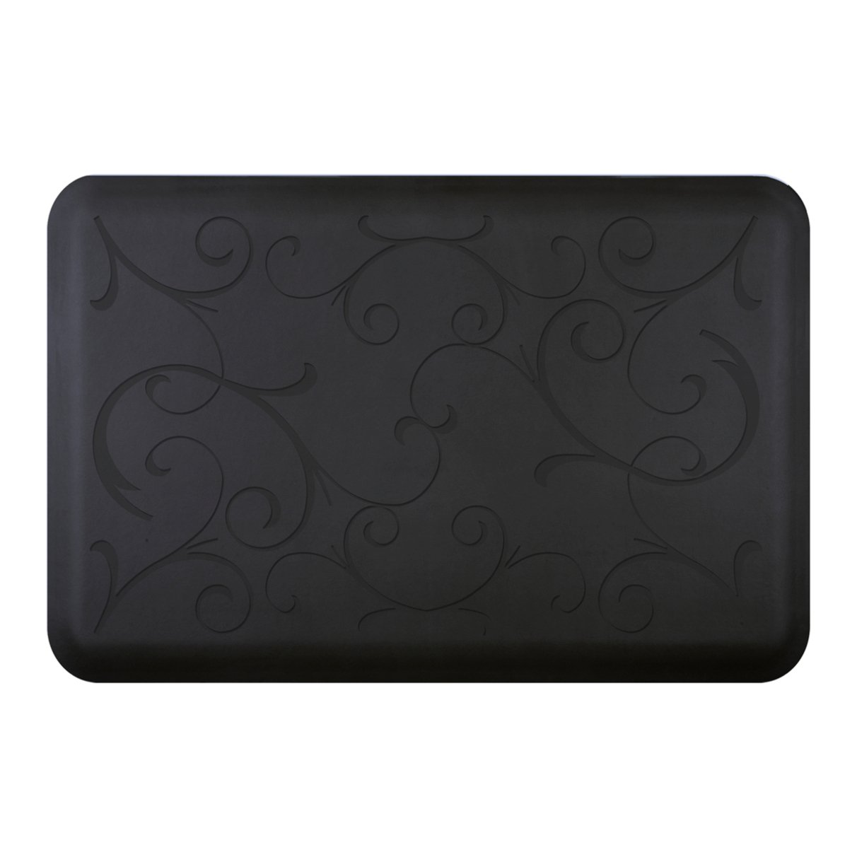 WellnessMats Bella Motif Anti-Fatigue Mat, Black, 36 Inch by 24 Inch