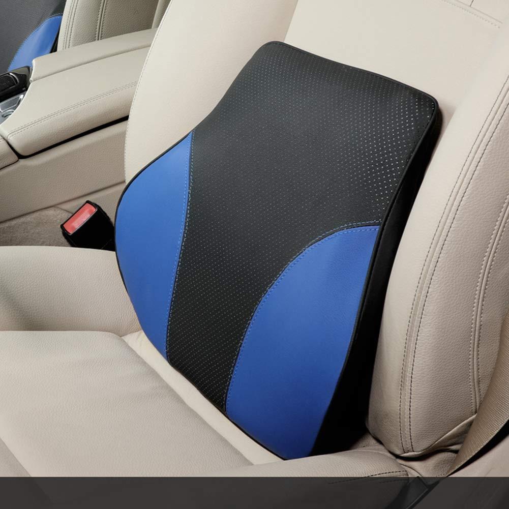 elegantstunning Farblich passende Memory Foam Cotton R/ückenst/ütze f/ür Auto-Lendenkissen f/ür Sitzst/ützen-Taillenkissen Classic Black