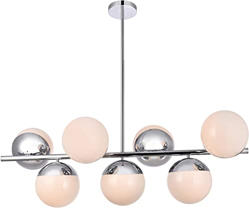 Eclipse 18 Inch 7-Light Pendant in Chrome Frosted White