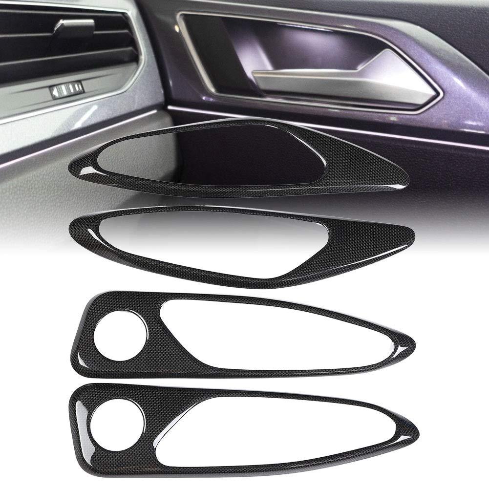 Qiilu Carbon Fiber Car Interior Air Conditioner Outlet Frame Cover Trim for Alfa Romeo Giulia