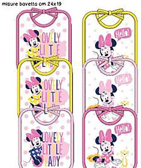 baberos Disney Pack de 6 unidades (24 X 19, minnie1): Amazon.es: Bebé