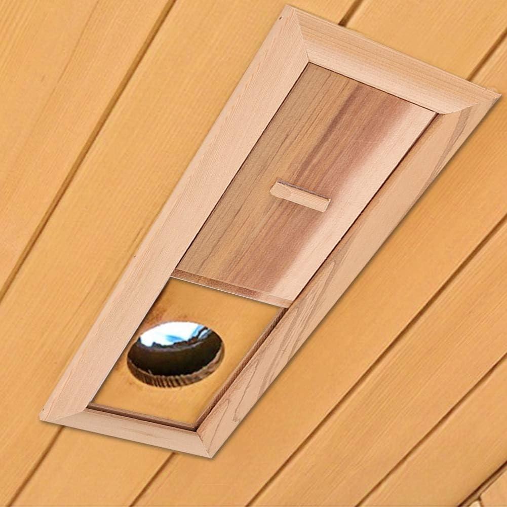 Wifehelper A/ération de La Salle de Sauna Entr/ée de La Sauna Sauna Soom Shutters Grille Panneau de Ventilation Equipement de La Salle de Sauna c/èdre