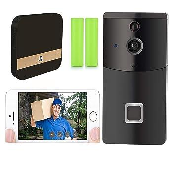 Timbre de video, Timbre Inteligente 720P HD Wifi Cámara de seguridad Bulit en almacenamiento de