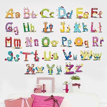 Amazon Com Encoco Alphabet Abc Animals Wall Decals