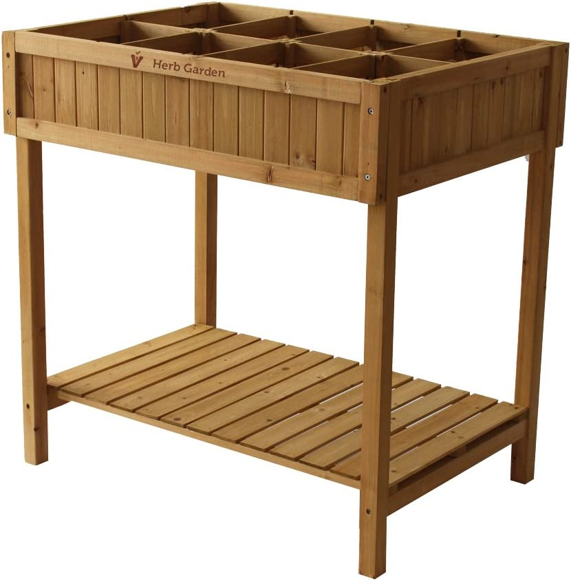VegTrug - Mesa de Cultivo, Incluye Compartimentos para Plantas ...