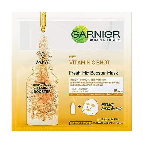 33 Serum Vitamin orange Garnier Face Naturals Mix Fresh Mask Skin G C Sheet