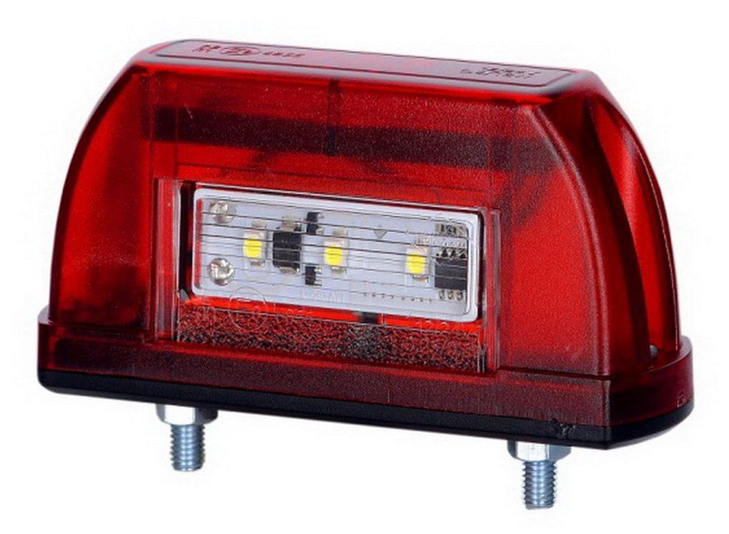 2 x 5 LED Kennzeichenleuchte 12V 24V mit E-Pr/üfzeichen Nummernschildleuchte Kennzeichenbeleuchtung Kennzeichen Auto SMD R/ück Hinten Paar LKW PKW KFZ