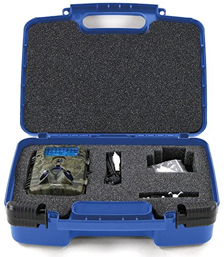 Life Made Better Storage Organizer - Compatible With XIKEZAN Trail & Game Camera, Toguard H50 ,Crenova Game & Trail Camera, Abask Trail Camera And Accessories- Durable Carrying Case - Blue (Thermography Paper)