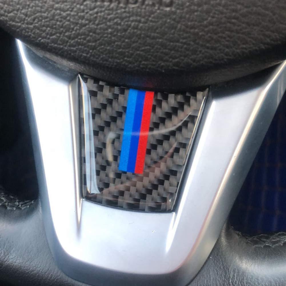 Accesorio Interior para veh/ículo automotriz para Z4 E89 2009-2015 Volante Emblema Pegatina Cubierta Ajuste Fibra de Carbono B 1 pcs//Set
