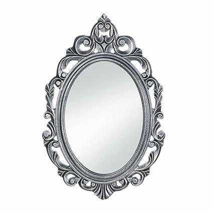 Amazon.com: Wall Decor Mirror, Antique Unique Wall Mirrors, Silver ...